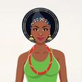 非洲时尚模特
